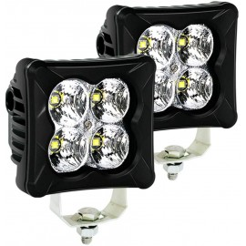 LED Pods Spot Light Bar - 4WDKING 2PCS 40W LED Off Road Work Light Truck Fog Lamp Tail Light