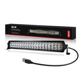 LED Light Bar 20 inch, 4WDKING Screwless Waterproof Double Row Off Road Light Bar