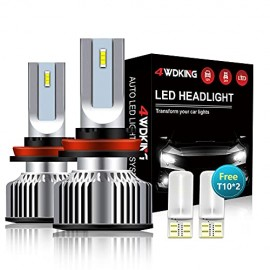 4WDKING H11 LED Headlight Bulbs, 1+1 Upgrade Low Beam/Fog Light
