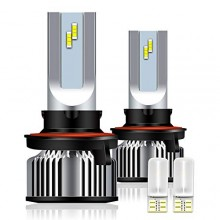 4WDKING H13/9008 LED Headlight Bulb, 1+1 Upgrade High/Low Beam