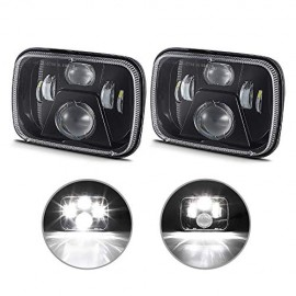 4WDKING 5x7 Inch LED Headlights, New CREE LEDs 7x6 LED Sealed Beam Headlamp