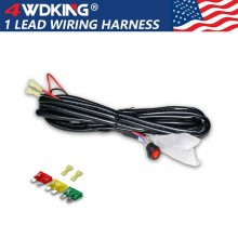 LED Light Bar Wiring Harness 1 Lead with Spade Connector
