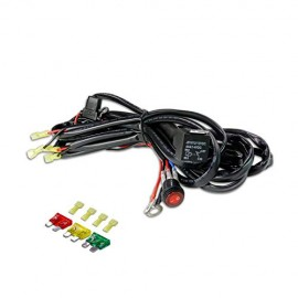 LED Light Bar Wiring Harness, 4WDKING 14AWG 2 Lead 400W 12FT Length Heavy Duty 40Amp Fuze Relay